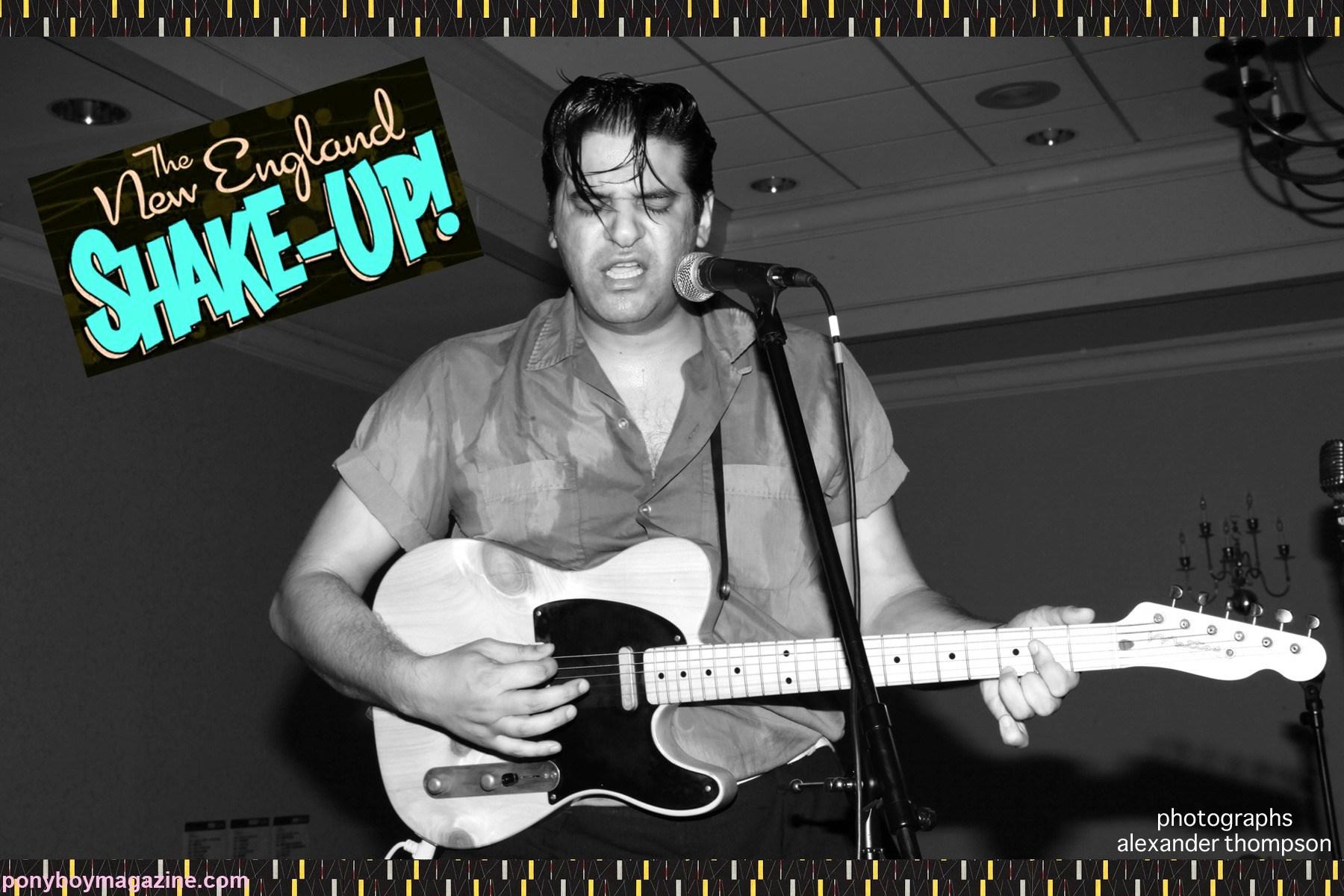 Rockabilly legend Bloodshot Bill live at The New England Shake-up, photographed by Alexander Thompson for Ponyboy Magazine.