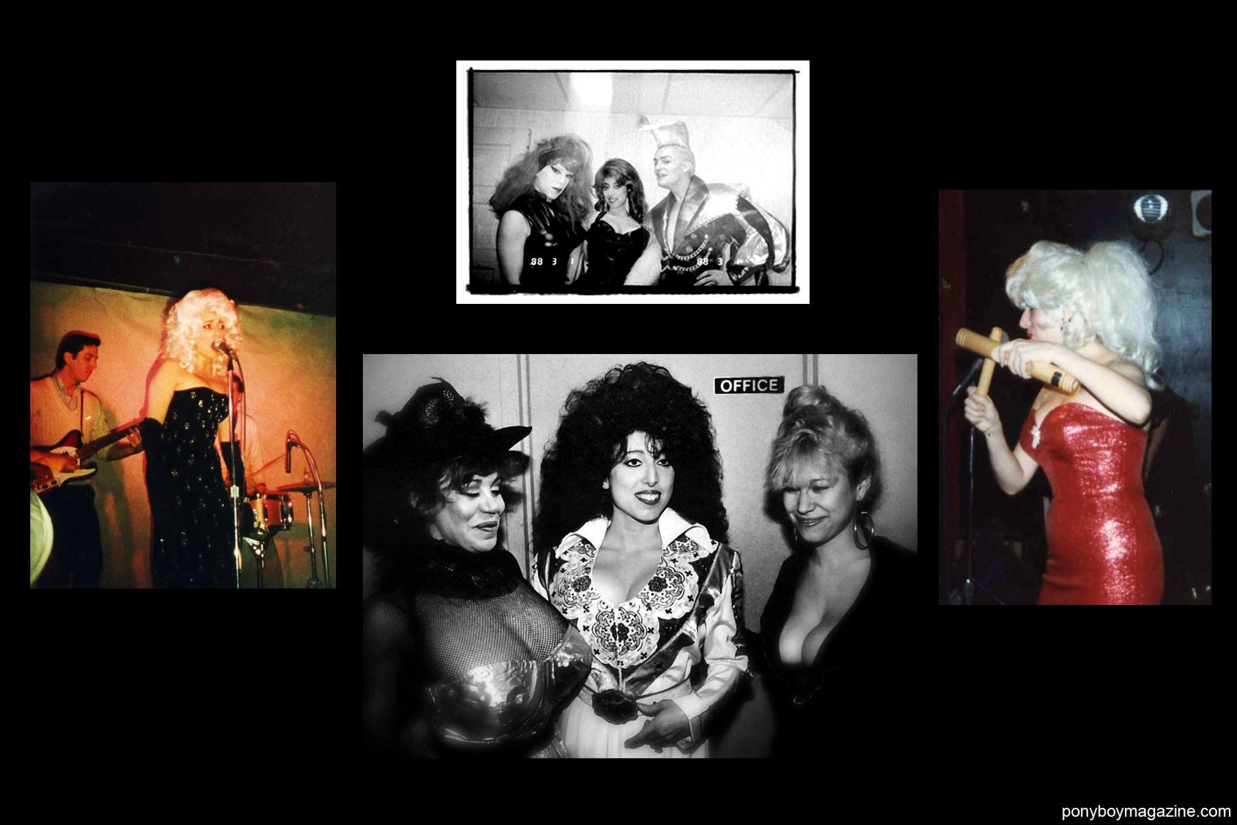 Vintage 80's snapshots of designer Katy K for Ponyboy Magazine.