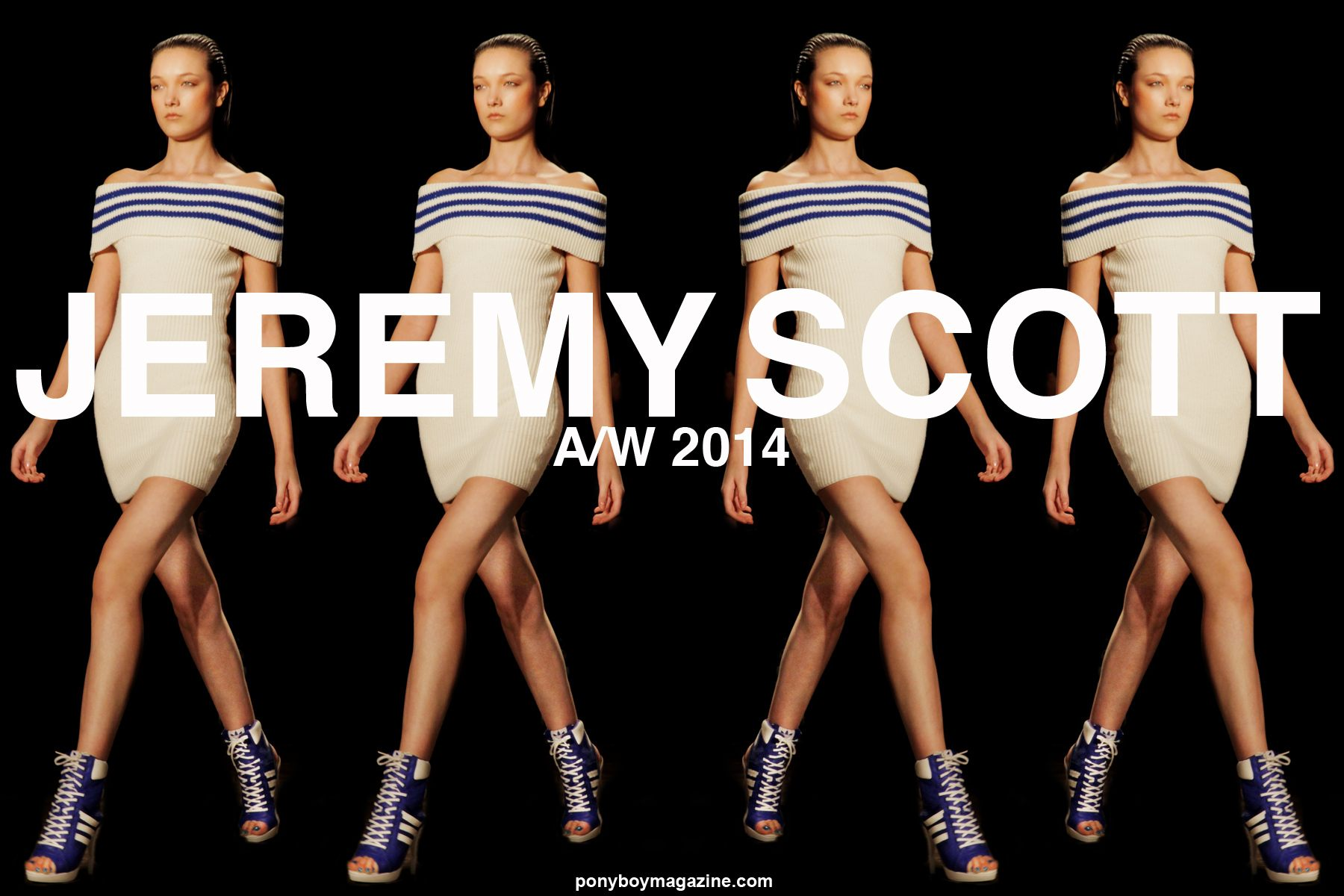 Jeremy Scott Autumn/Winter 2014 women's and menswear collection at Milk Studios in downtown Manhattan. Photograph by Alexander Thompson for Ponyboy Magazine.