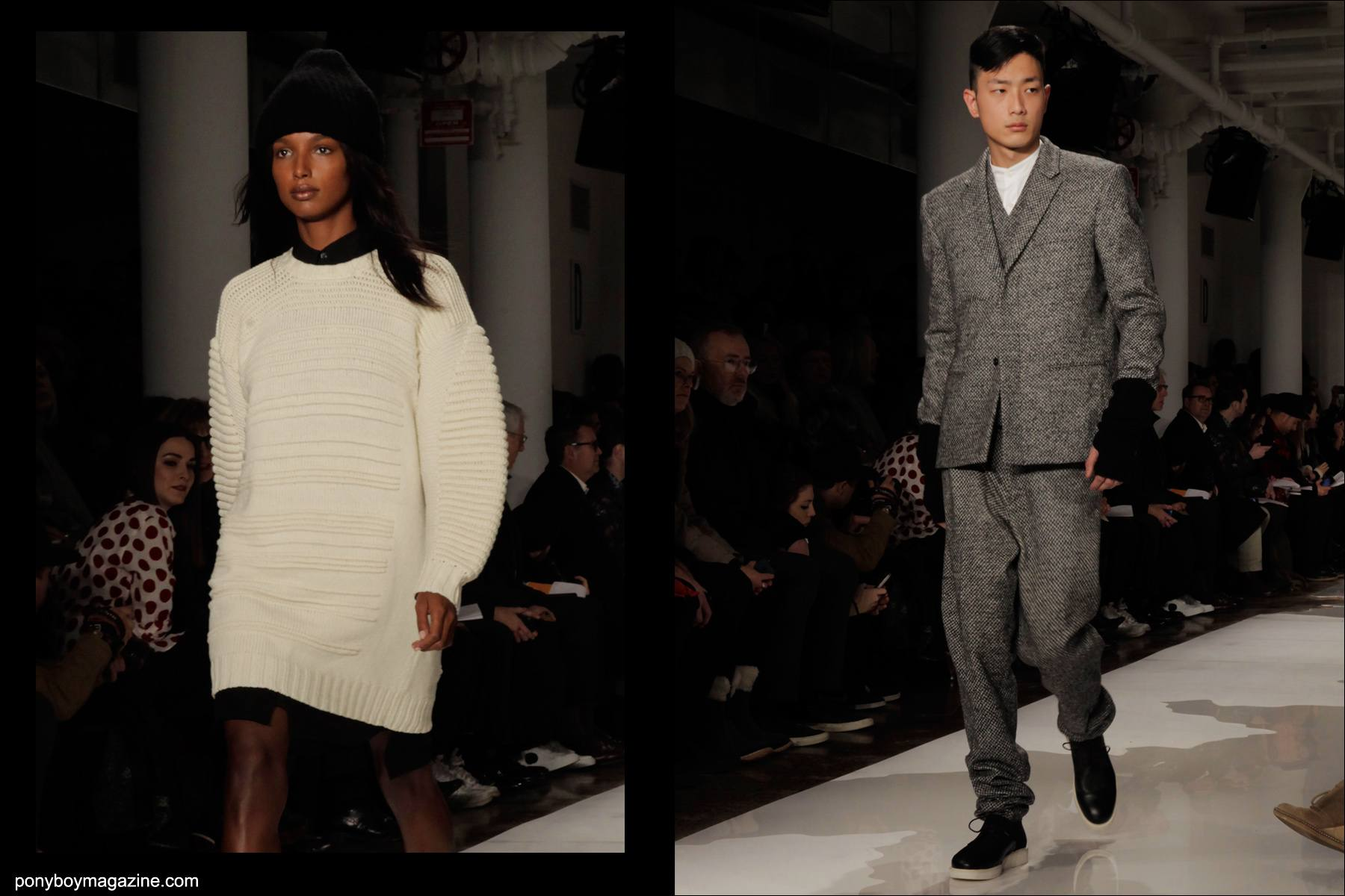 Public School Fall/Winter 2014 show at Milk Studios in downtown Manhattan, photographed by Ponyboy magazine photographer Alexander Thompson.