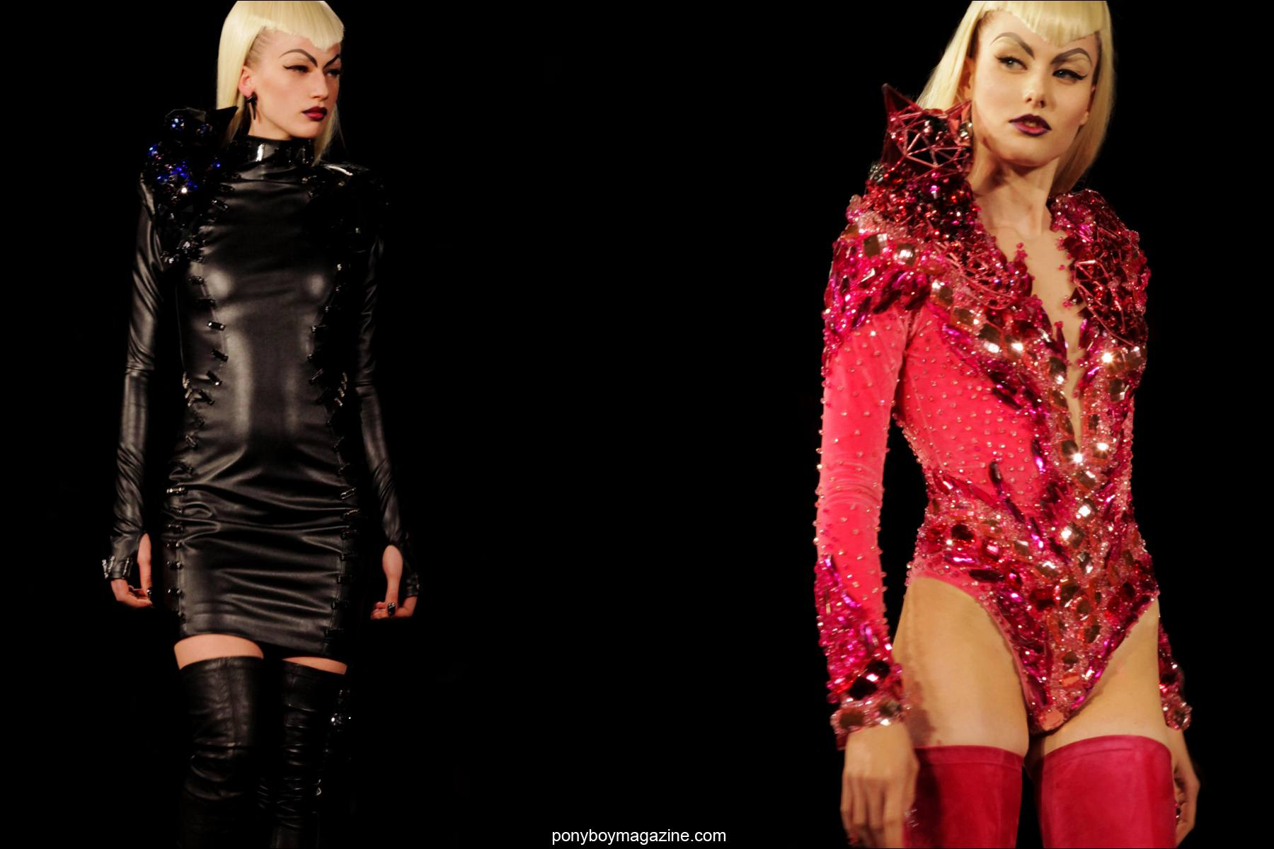 The latest A/W 2014 creations by The Blonds, photographed by Alexander Thompson for Ponyboy Magazine.