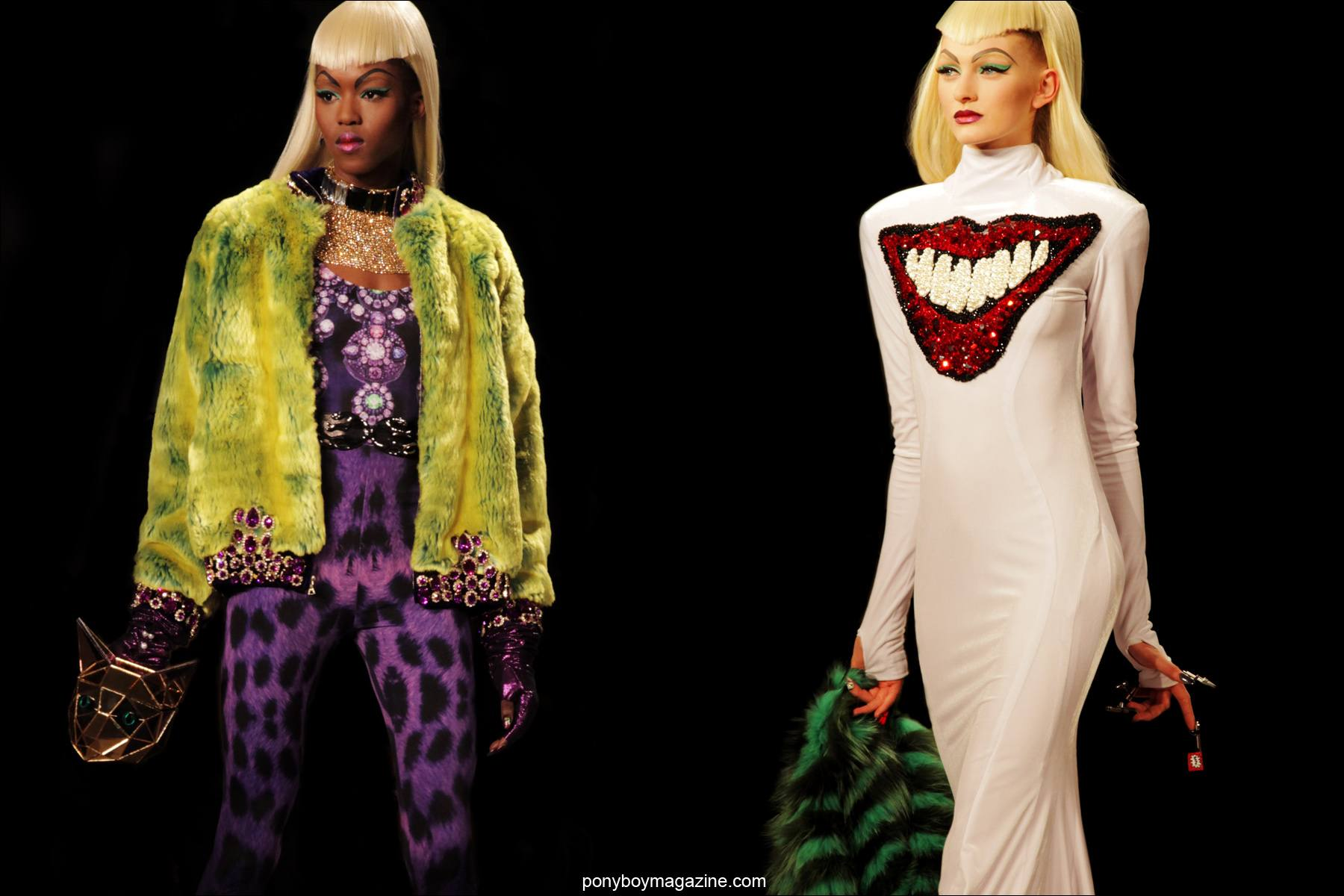 The Blonds A/W 2014 runway collection photographed by Alexander Thompson during NYFW for Ponyboy Magazine.