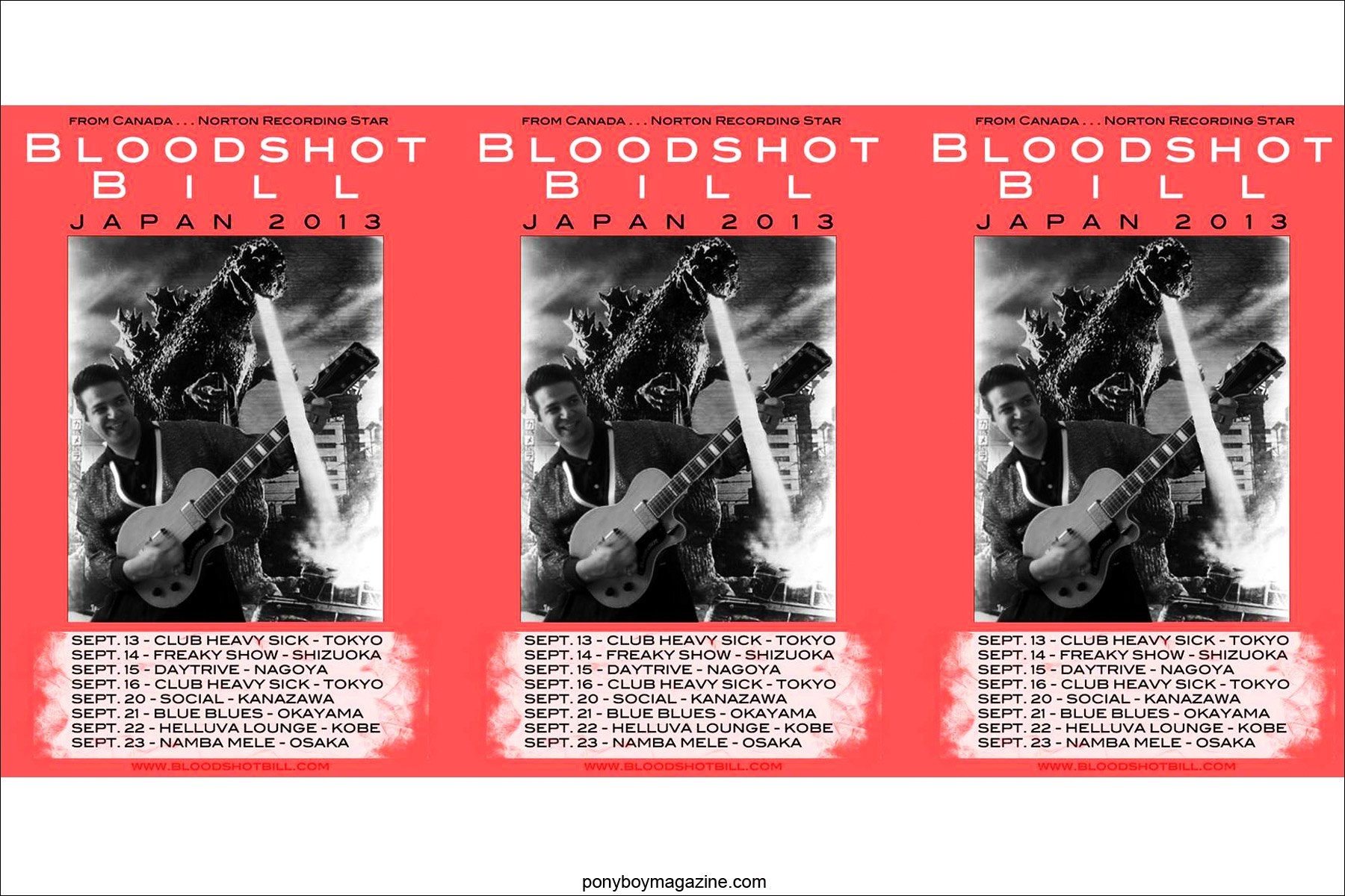 Repeat of Bloodshot Bill Japan Tour, for Ponyboy Magazine in New York City.