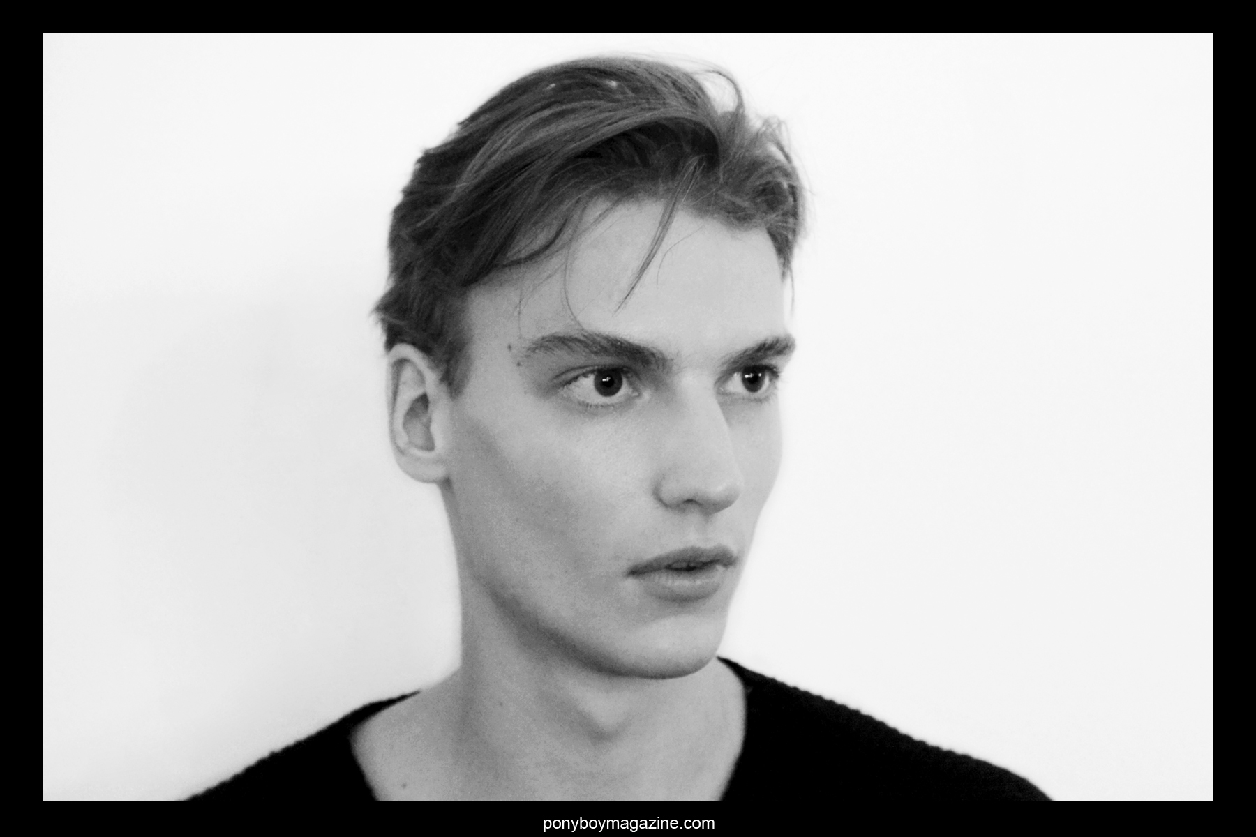 Backstage portrait by Alexander Thompson, photographed at Patrik Ervell A/W 2014 Collection in New York City.