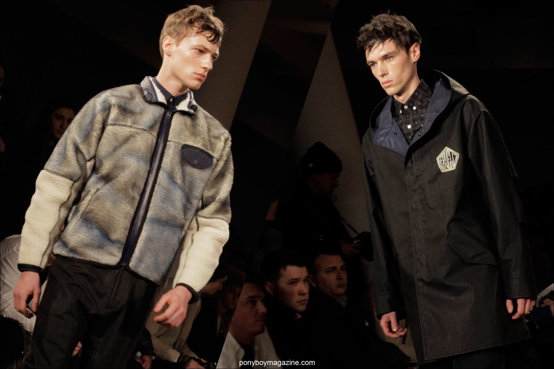 Menswear collection at New York Fashion Week. Patrik Ervell A/W 2014, photographed by Alexander Thompson for Ponyboy Magazine.