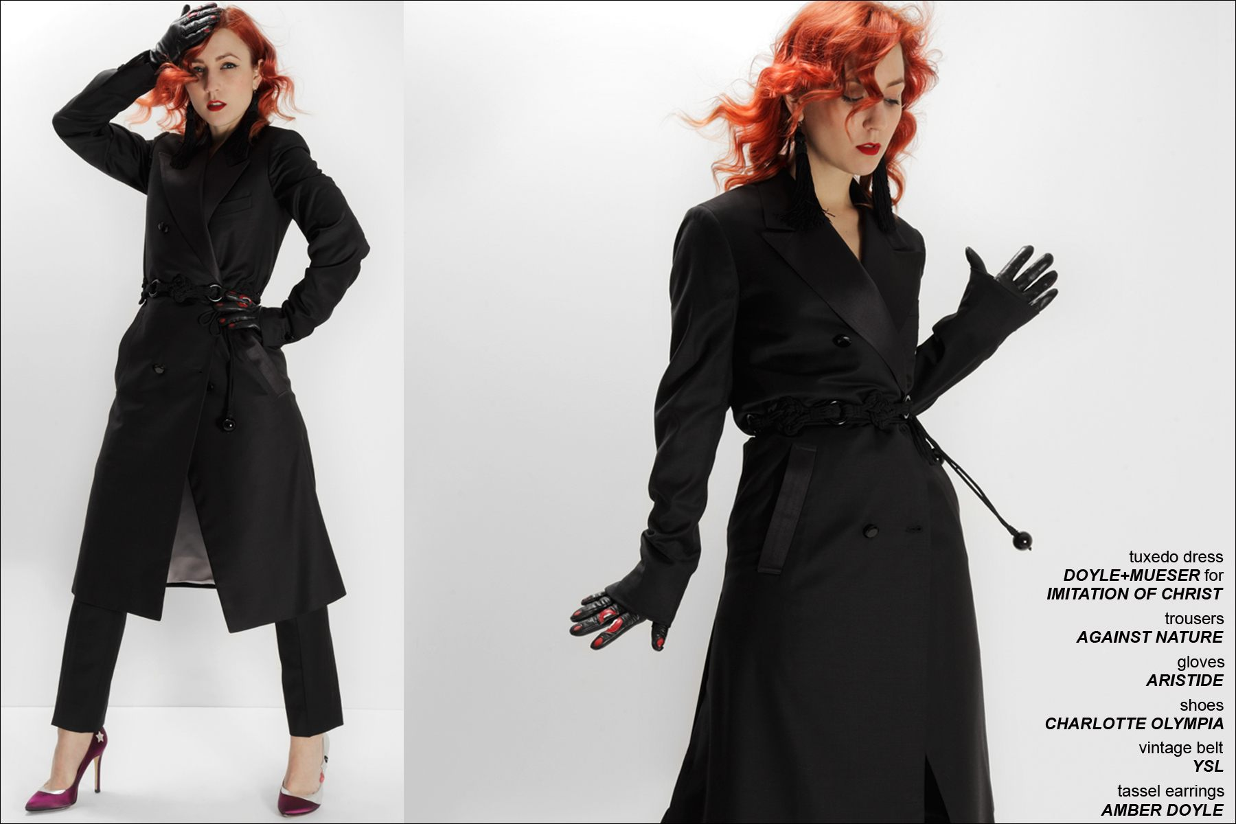 Amber Doyle models for Ponyboy Magazine photographer Alexander Thompson.