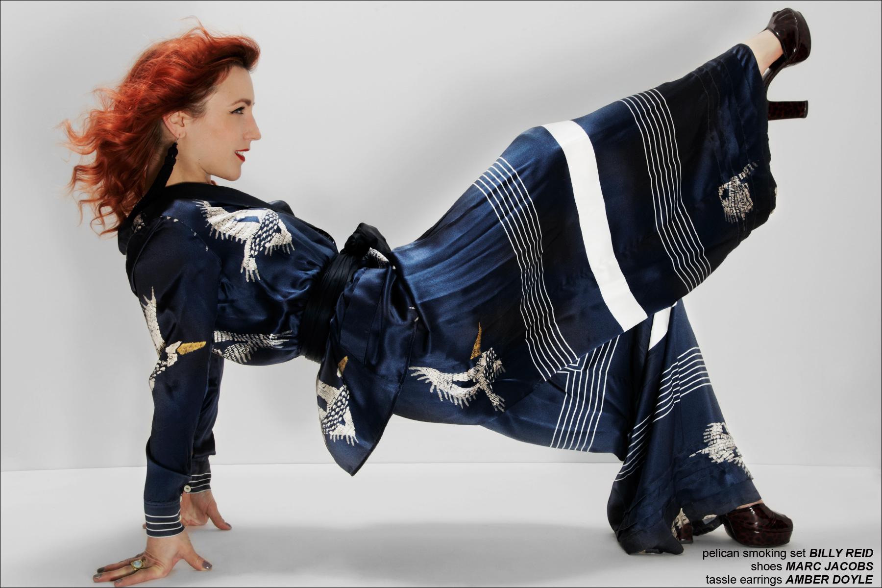 NYC designer Amber Doyle poses for Ponyboy Magazine, photographed by Alexander Thompson.