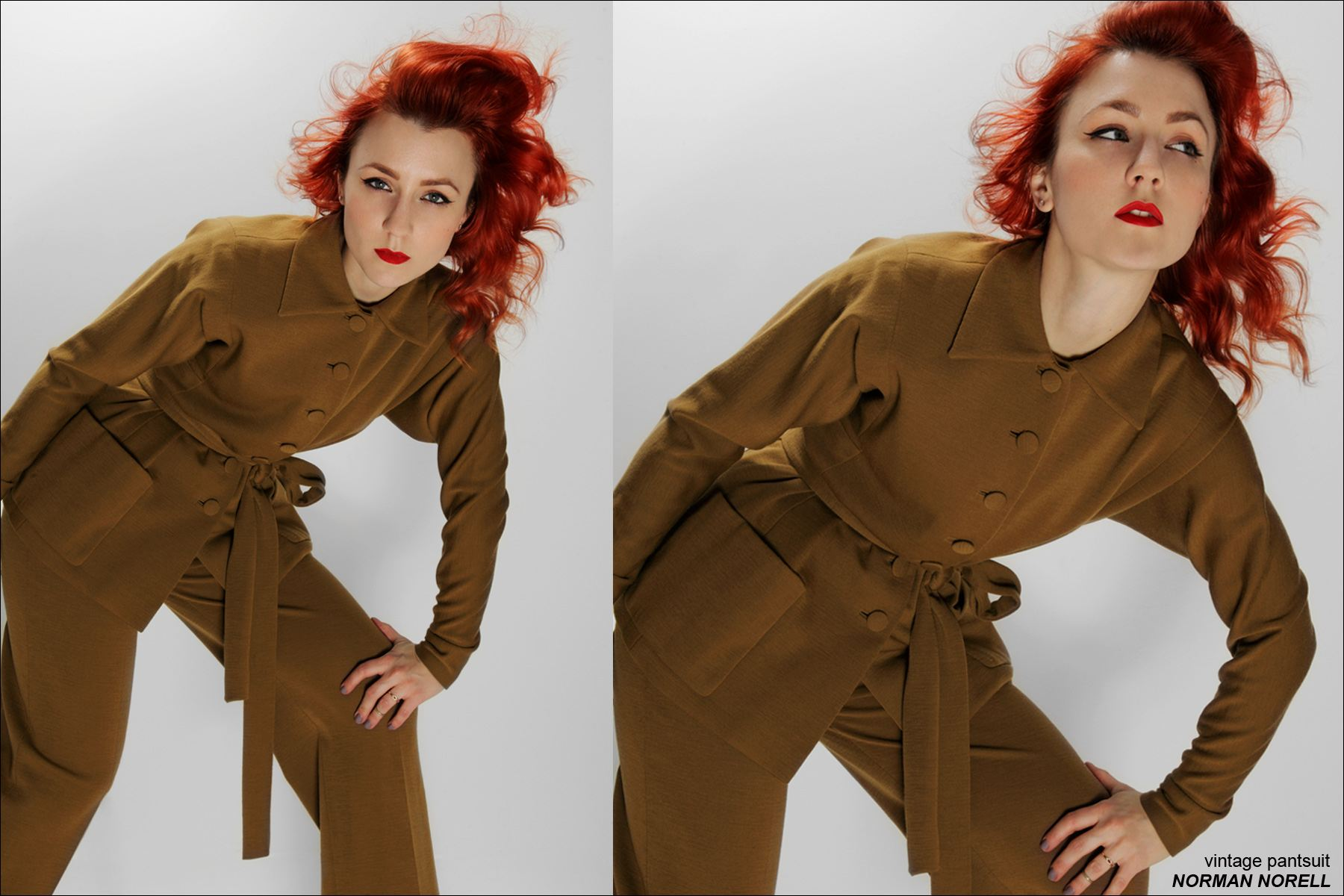 Amber Doyle, New York City designer, photographed by Alexander Thompson in vintage Norman Norell for Ponyboy Magazine.
