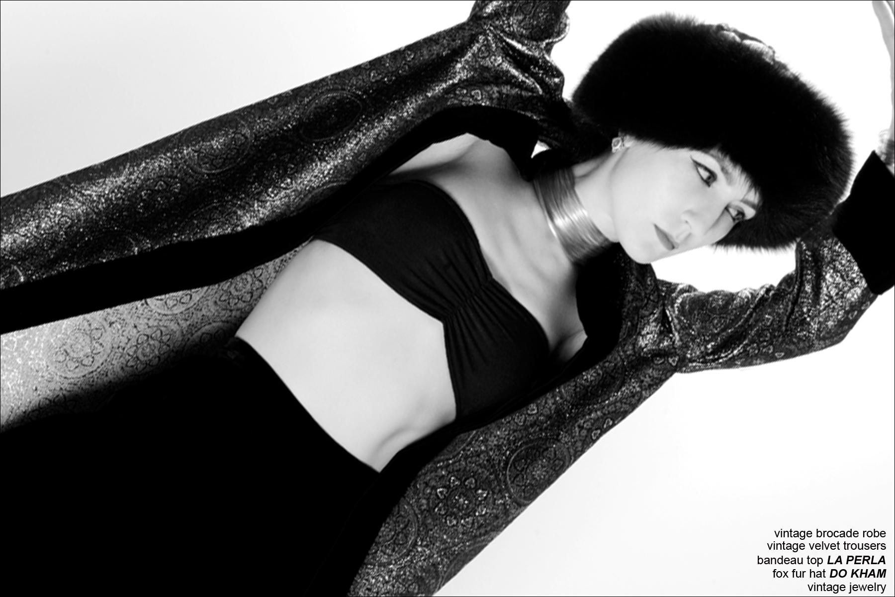 Doyle+Mueser menswear designer Amber Doyle models for Ponyboy Magazine, photographed by Alexander Thompson.
