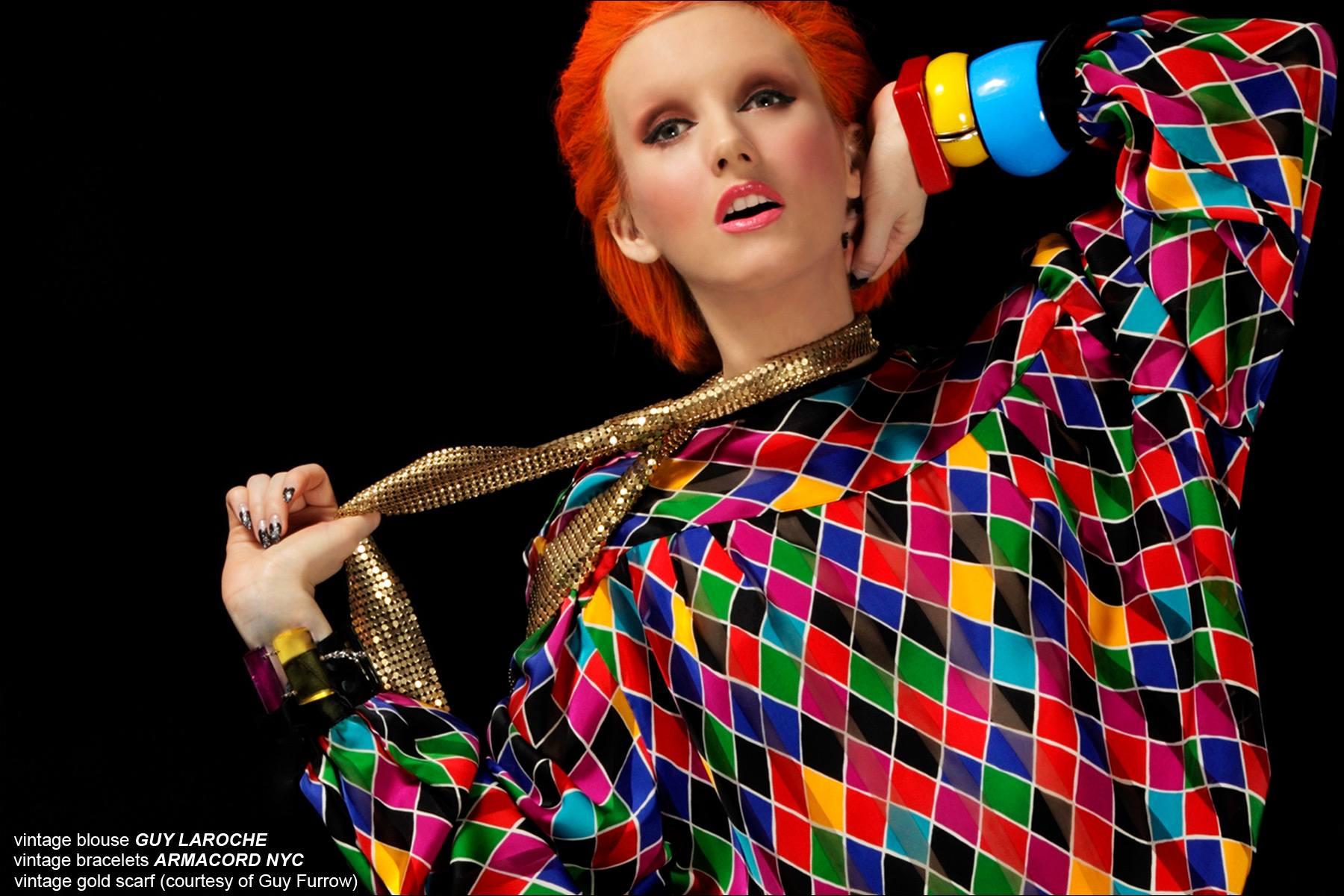 Angela Bowie style for Ponyboy Magazine women's editorial