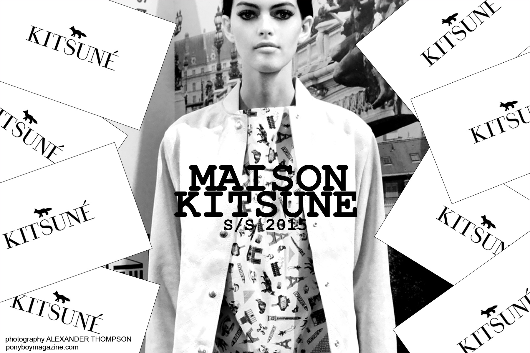 Maison Kitsune S/S15 collection presented at New York City's Standard Hotel. Photo by Alexander Thompson for Ponyboy Magazine.
