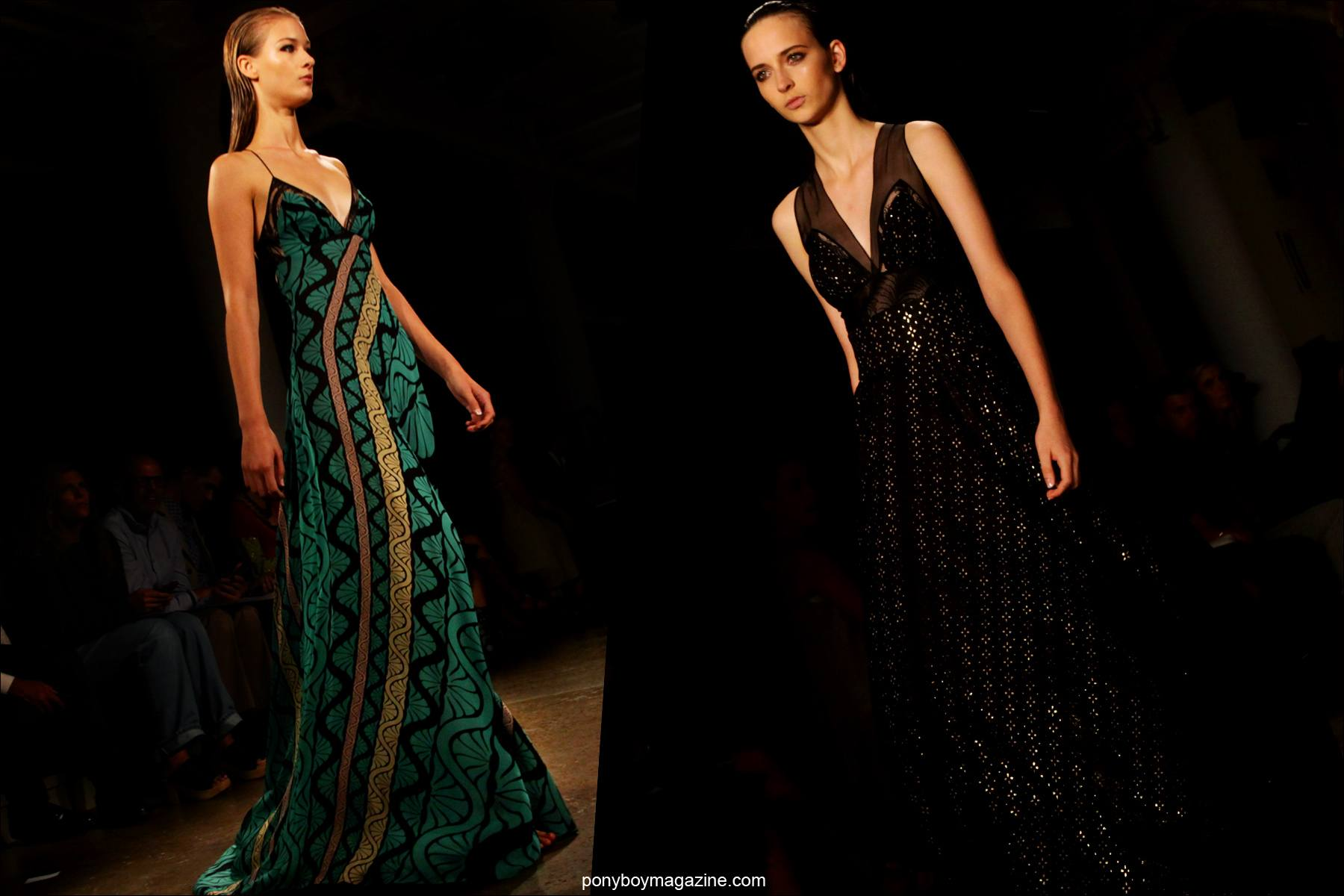 Gowns from Sophie Theallet Spring/Summer 2015 runway show in New York City. Photos by Alexander Thompson for Ponyboy Magazine.