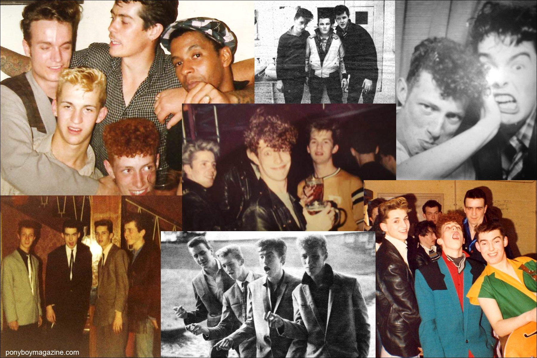 Snapshots from the personal collection of Tim Polecat, lead singer for UK rockabilly band Polecats. Ponyboy Magazine New York.