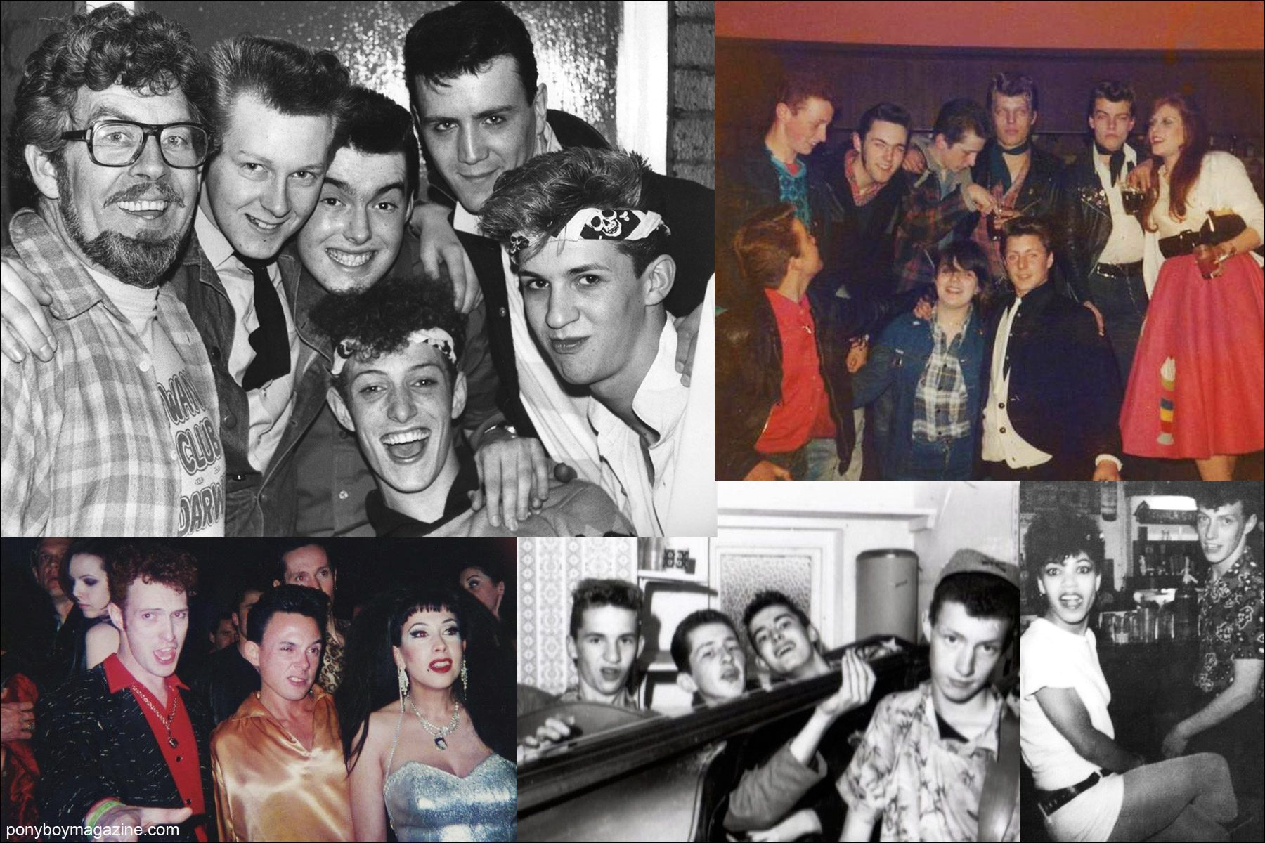 Assorted old snapshots from the personal collection of Polecats frontman Tim Polecat. Ponyboy Magazine New York.
