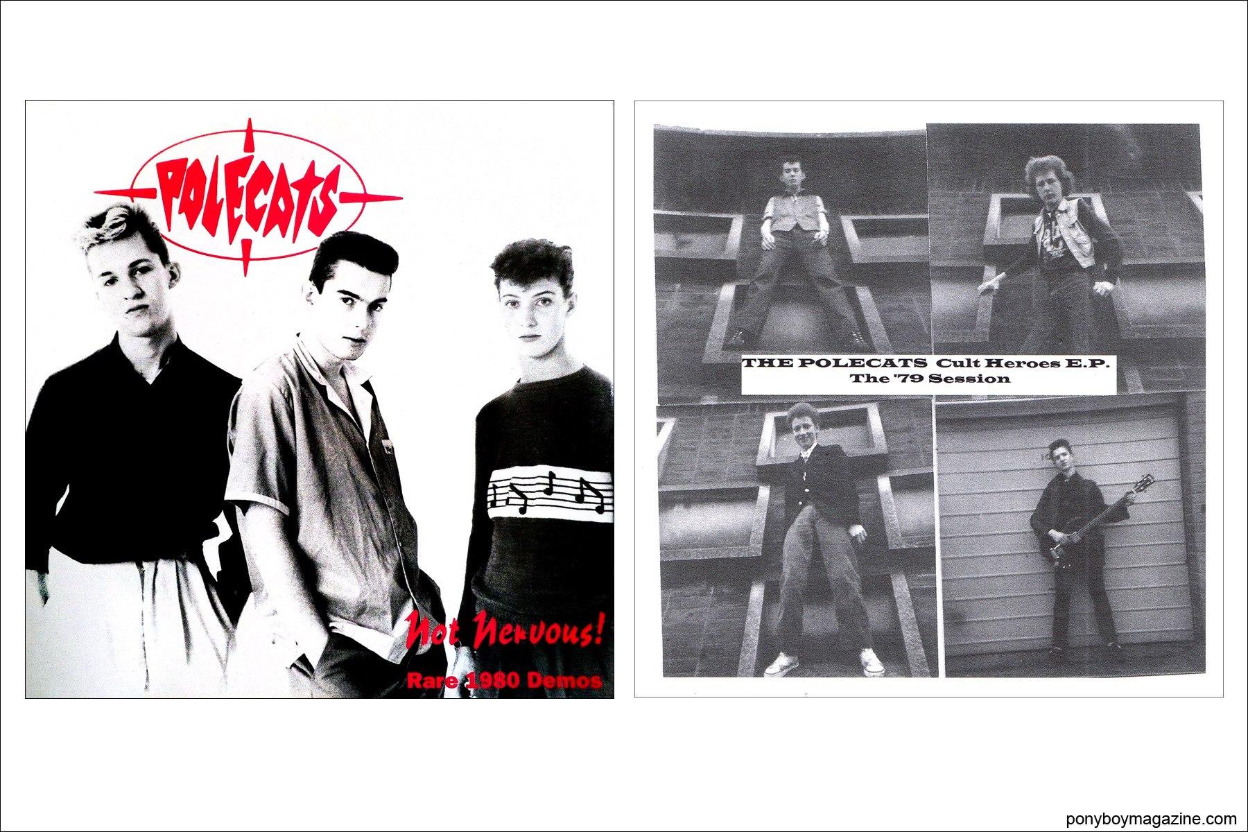 Record covers for UK neo-rockabilly sensation Polecats. Ponyboy Magazine NY.