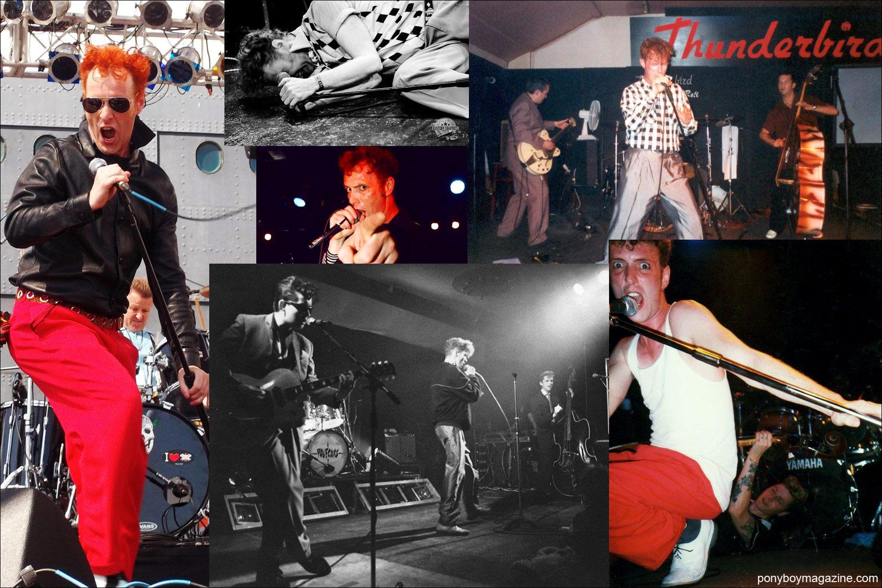 Live shots of legendary rockabilly singer Tim Polecat. Ponyboy Magazine.