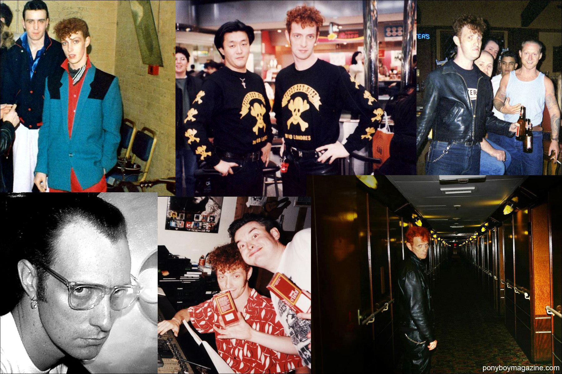 Assorted snapshots of Tim Polecat, lead singer for UK rockabilly band Polecats. Ponyboy Magazine NY.