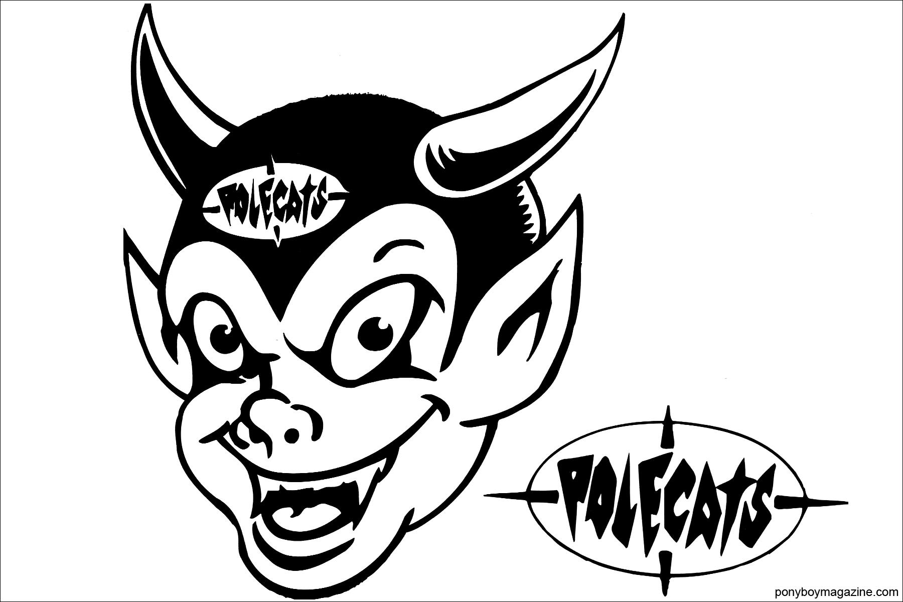 A Polecats logo. Ponyboy Magazine.