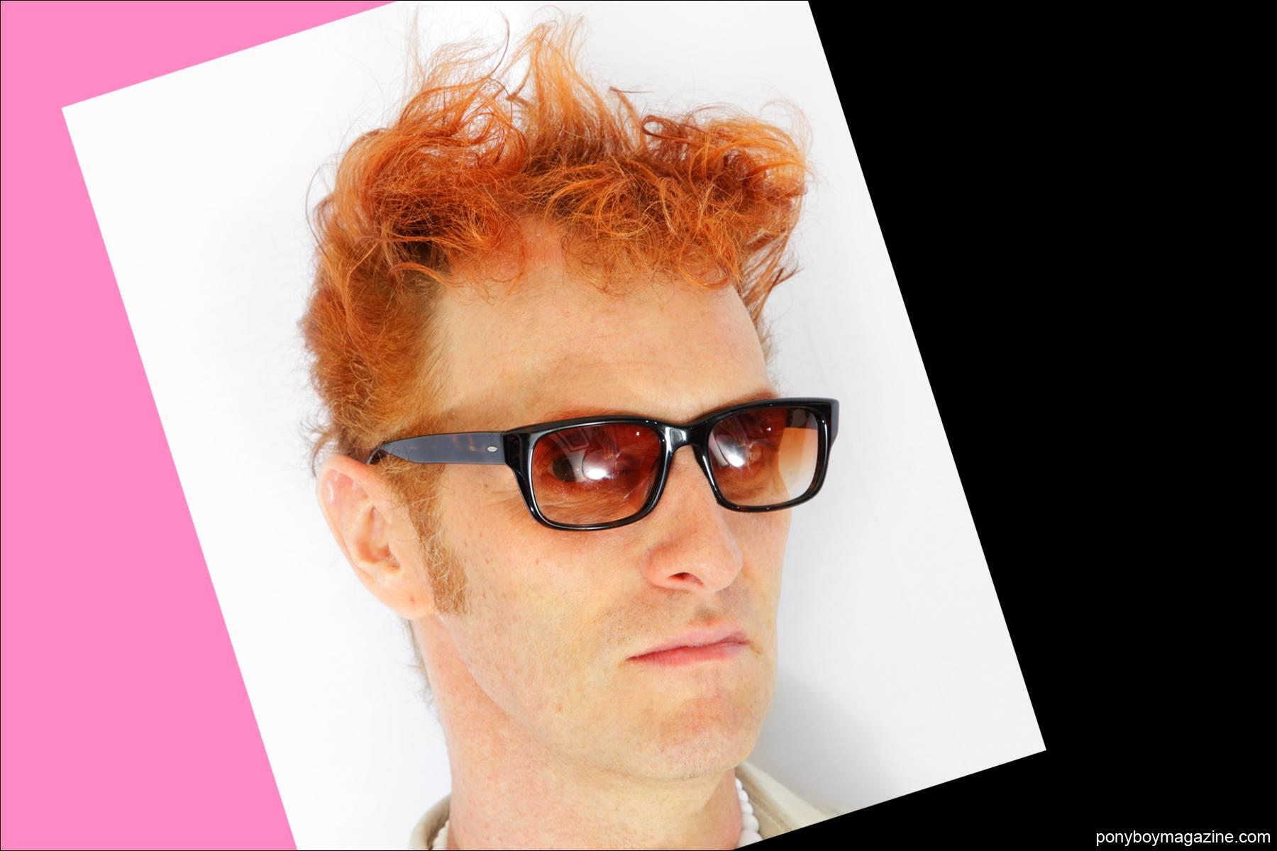 Headshot of musician Tim Polecat. Photographed by Alexander Thompson for Ponyboy Magazine NY.