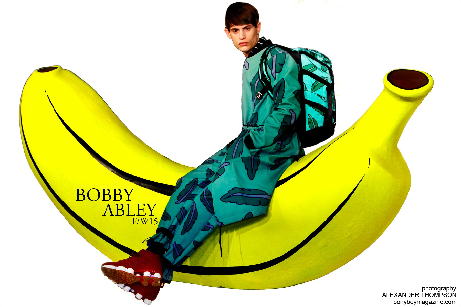 Male model Jakub Pastor photographed by Alexander Thompson at Bobby Abley F/W15 presentation, for Ponyboy magazine.