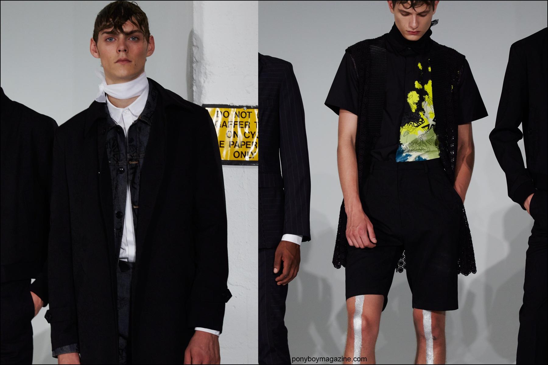 Mats Van Snippenberg photographed at Kenneth Ning menswear presentation at New York Fashion Week Men Spring/Summer 2016, for Ponyboy magazine NY by Alexander Thomspon.