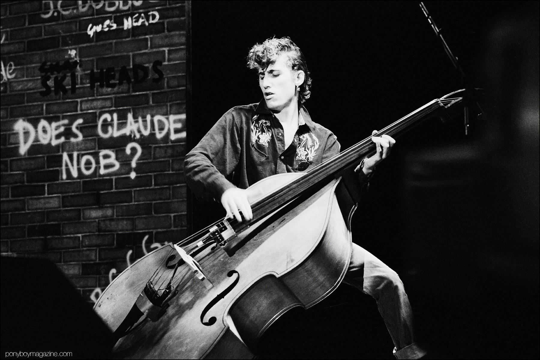 Rockabilly bassist Lee Rocker, from the Stray Cats, photographed by Manfred Becker. Ponyboy magazine NY.