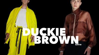 DUCKIE <br />BROWN S/S16