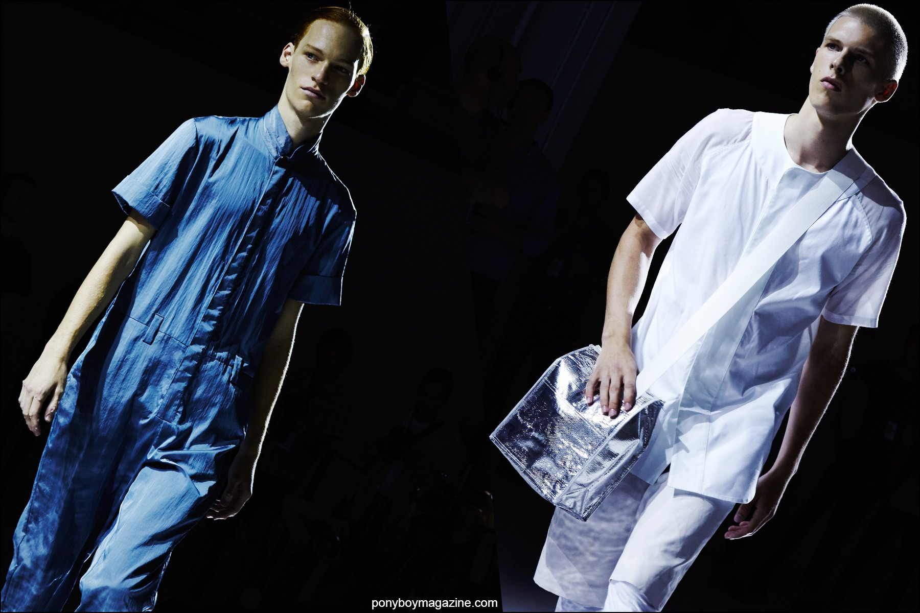 The latest from Rochambeau menswear, photographed on the runway, Spring/Summer 2016. Photographs by Alexander Thompson for Ponyboy magazine NY.