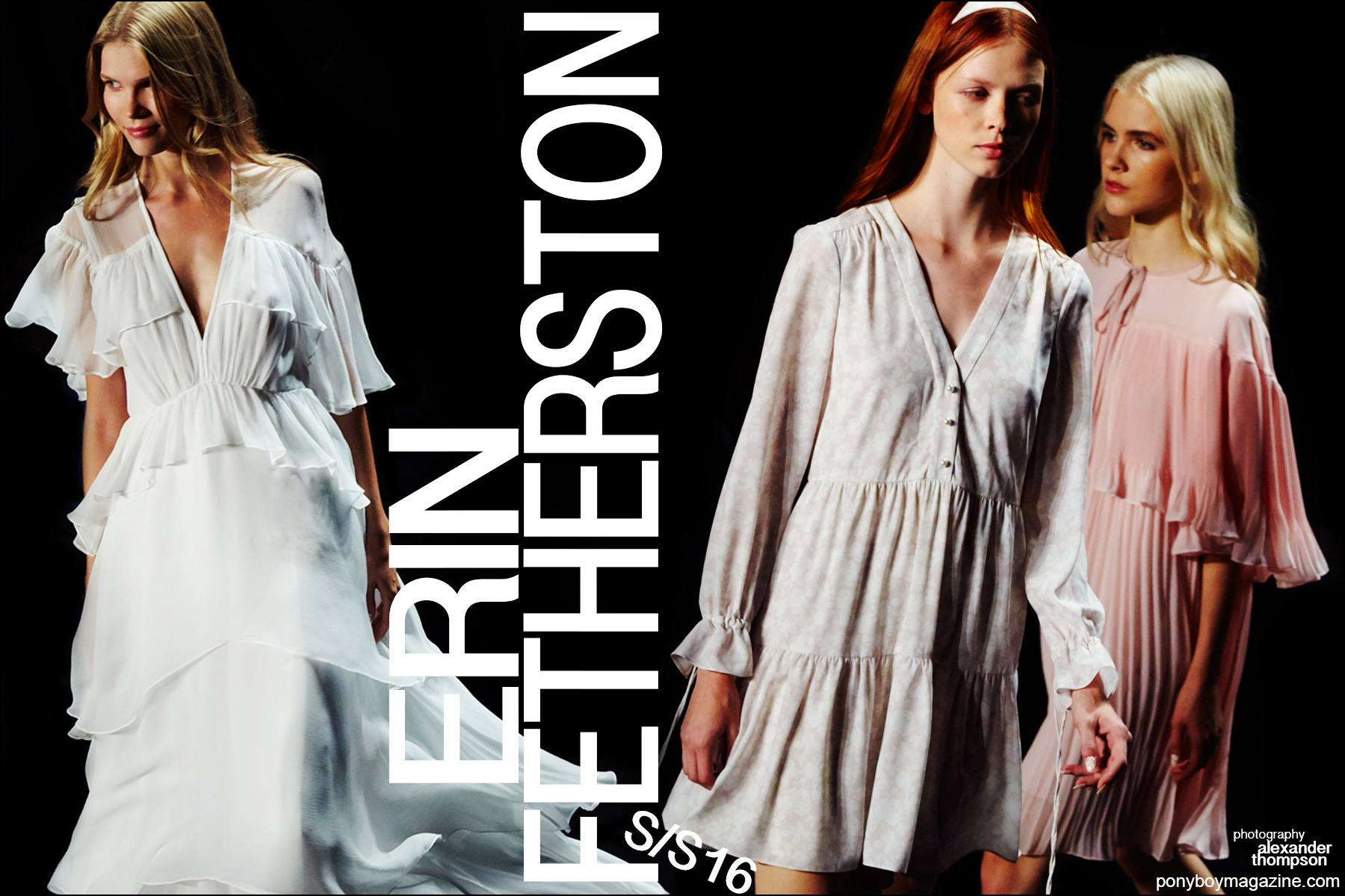 The Erin Fetherston Spring/Summer 2016 womenswear show, photographed by Alexander Thompson for Ponyboy magazine.