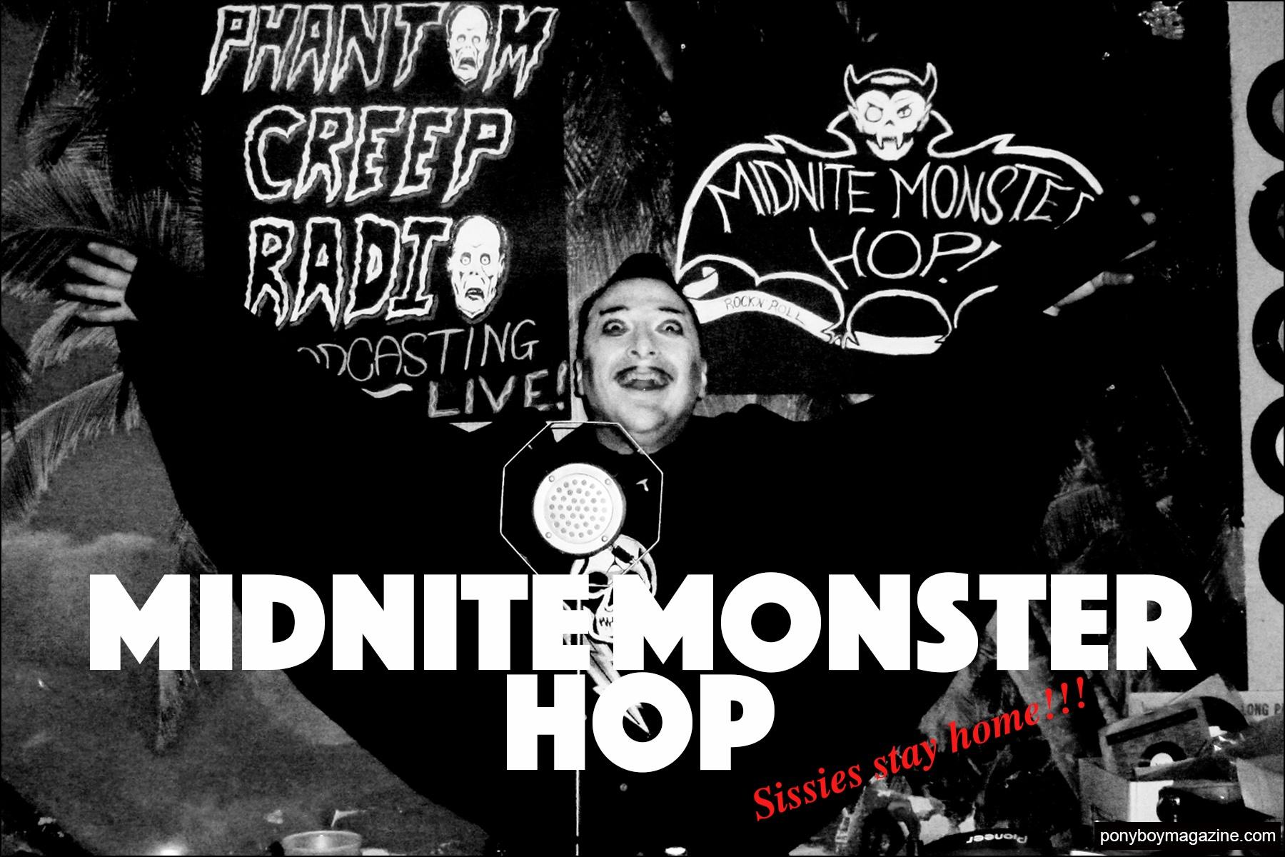 The Midnite Monster Hop party. Ponyboy magazine NY.