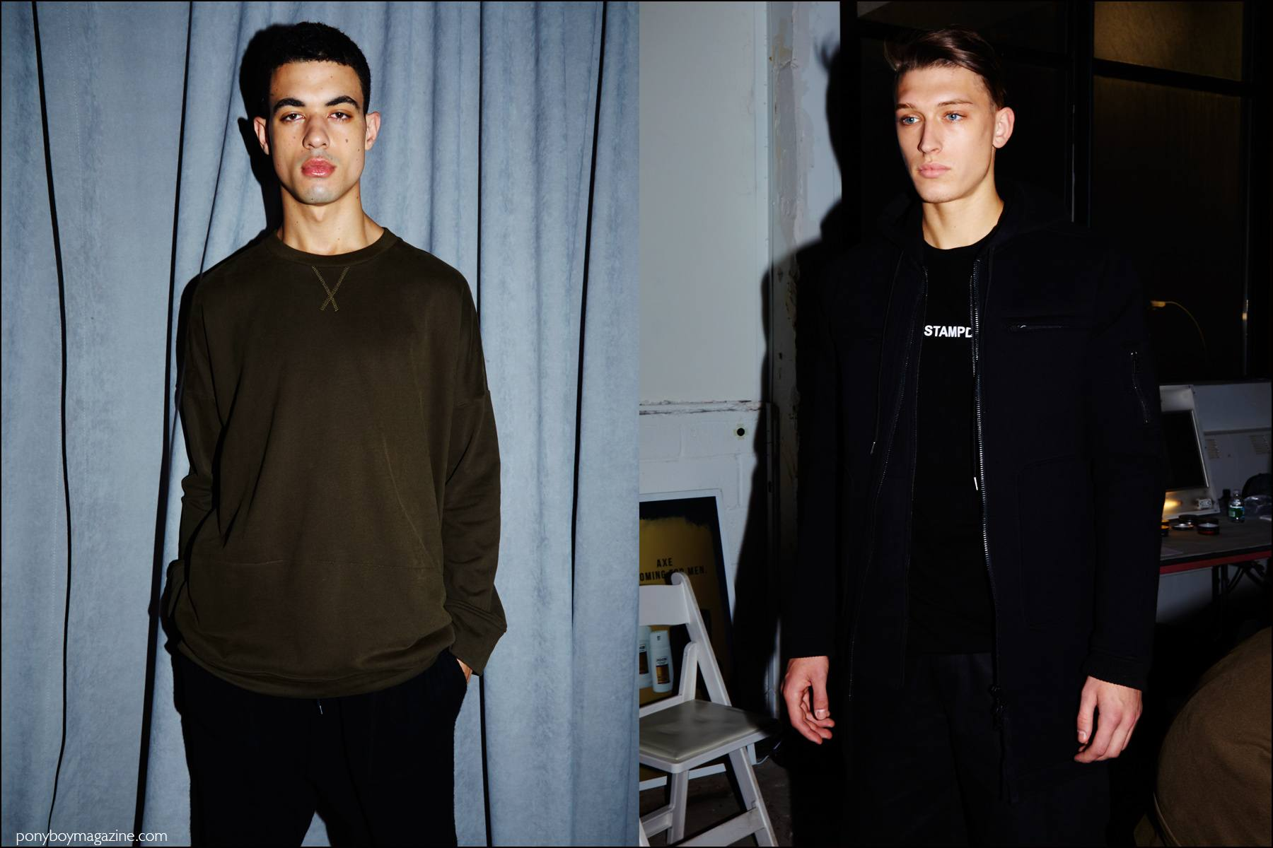 Stampd F/W16 menswear photographed backstage by Alexander Thompson for Ponyboy magazine NY.