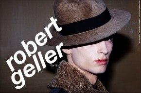 Model Zach Troost photographed backtage in Robert Geller F/W16 menswear by Alexander Thompson for Ponyboy magazine.
