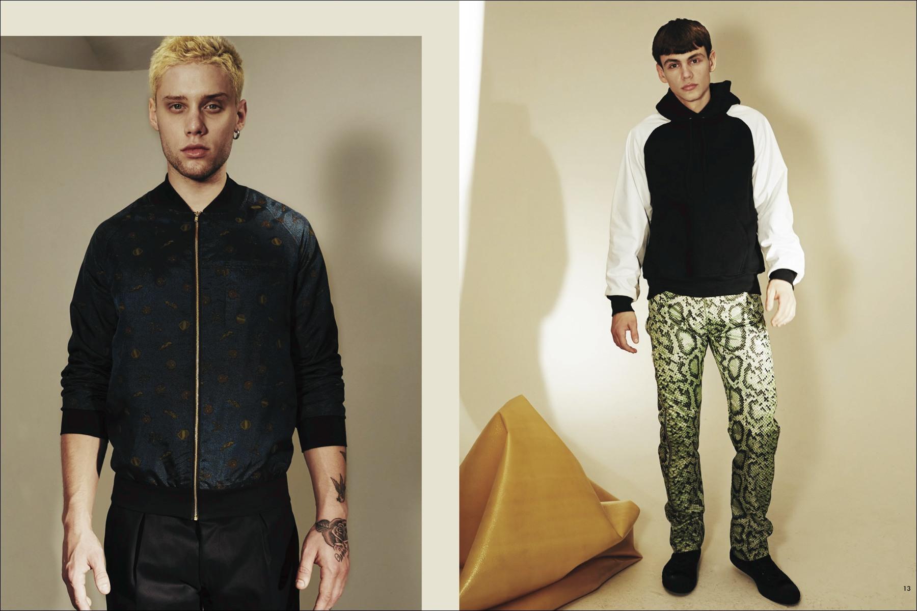 Male models Matt Assez and Matthew Logos photographed by Simon Cave for Martin Keehn F/W16 menswear lookbook. Ponyboy magazine NY.