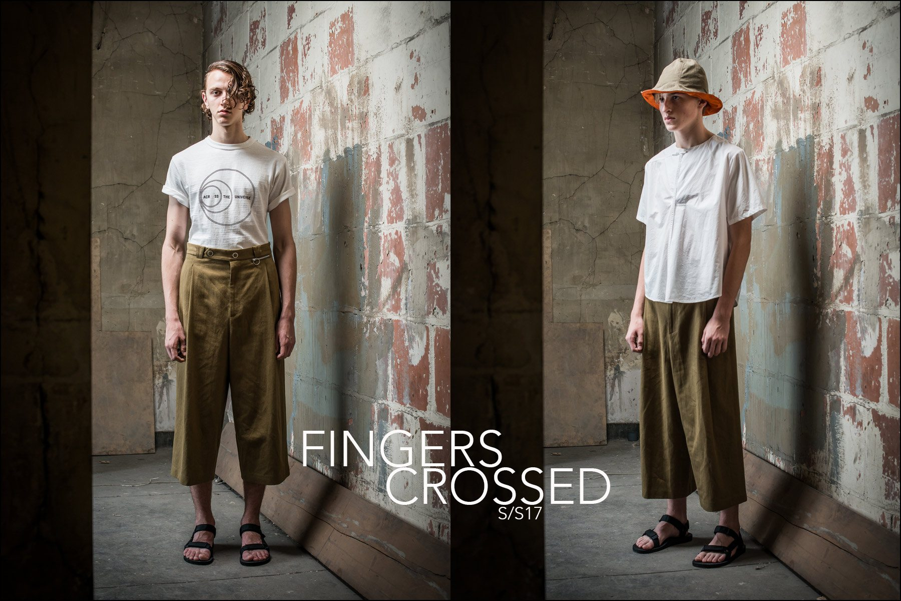 "Fingers Crossed lookbook, ""Across The Universe"", designed by Ryu Hayama. Photography by Masataka Suemitsu. Ponyboy magazine."