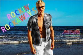 Jake Filling from New York Model Management photographed by Alexander Thompson for Ponyboy magazine menswear editorial, Rockin Rockaways.