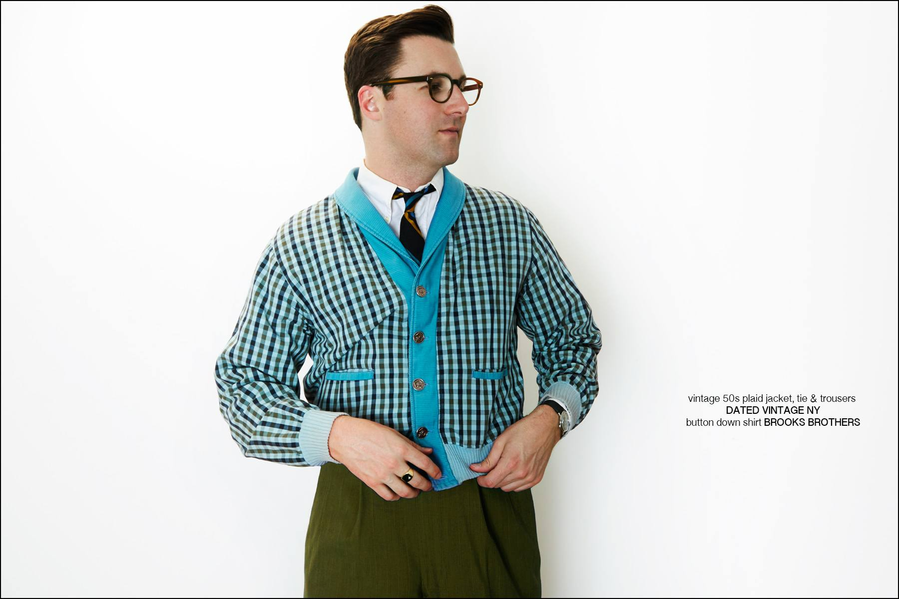 Nick Waterhouse wears vintage clothing from Dated Vintage NY. Photographed for Ponyboy magazine NY by Alexander Thompson.