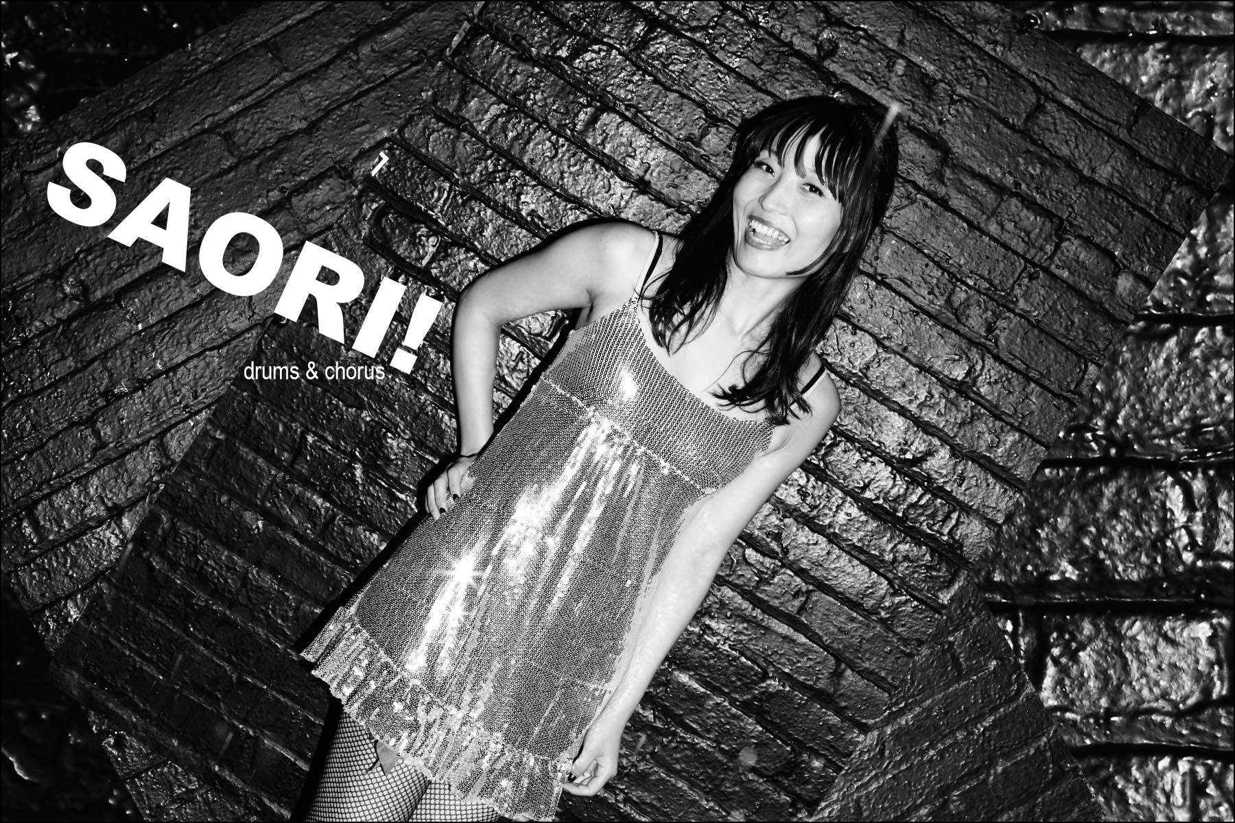 Saori! Drums & chorus, Stompin Riffraffs. Photographed by Alexander Thompson for Ponyboy magazine NY.