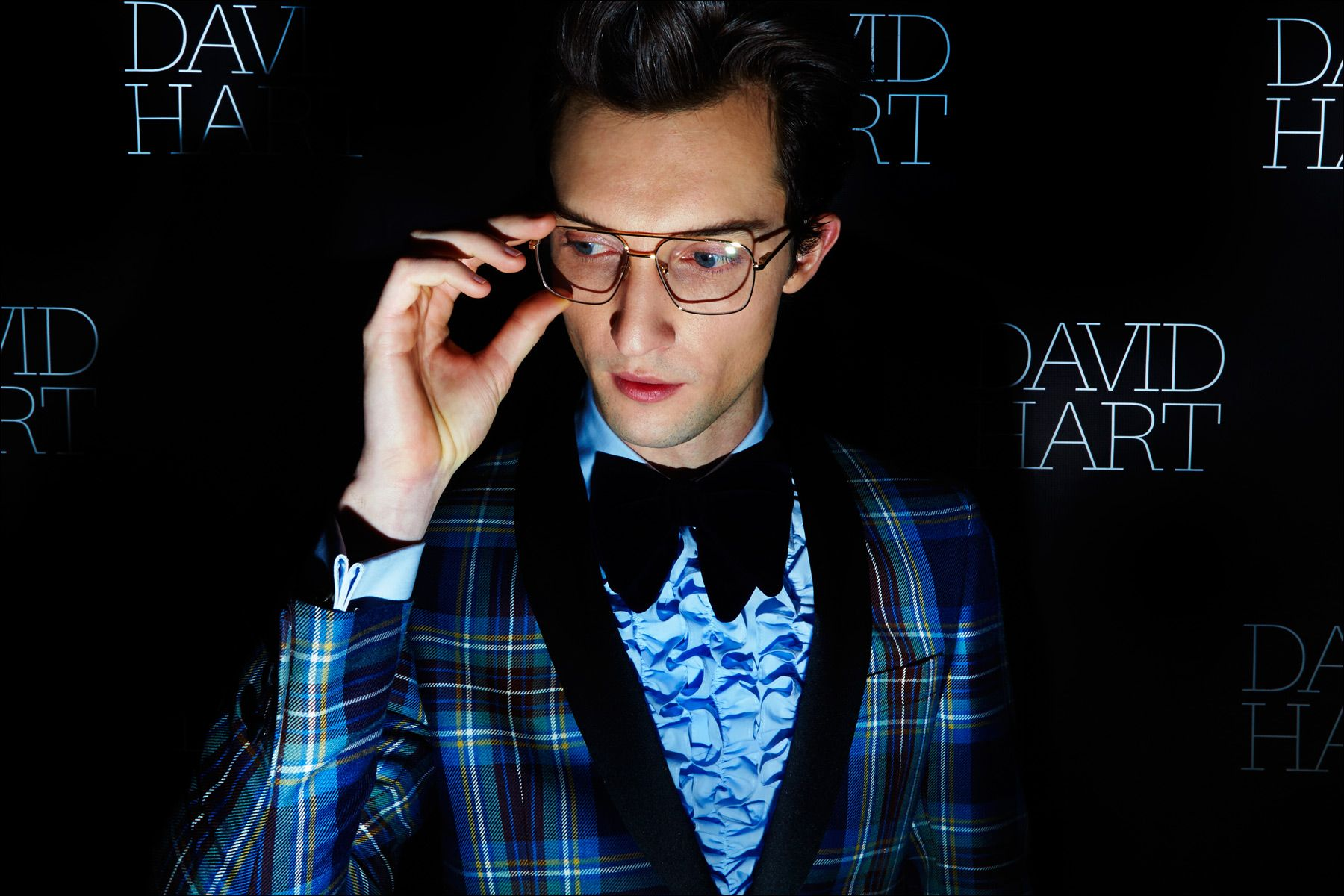 Model Max von Isser photographed on the David Hart red carpet presentation for Fall/Winter 2017. Photography by Alexander Thompson for Ponyboy magazine NY.