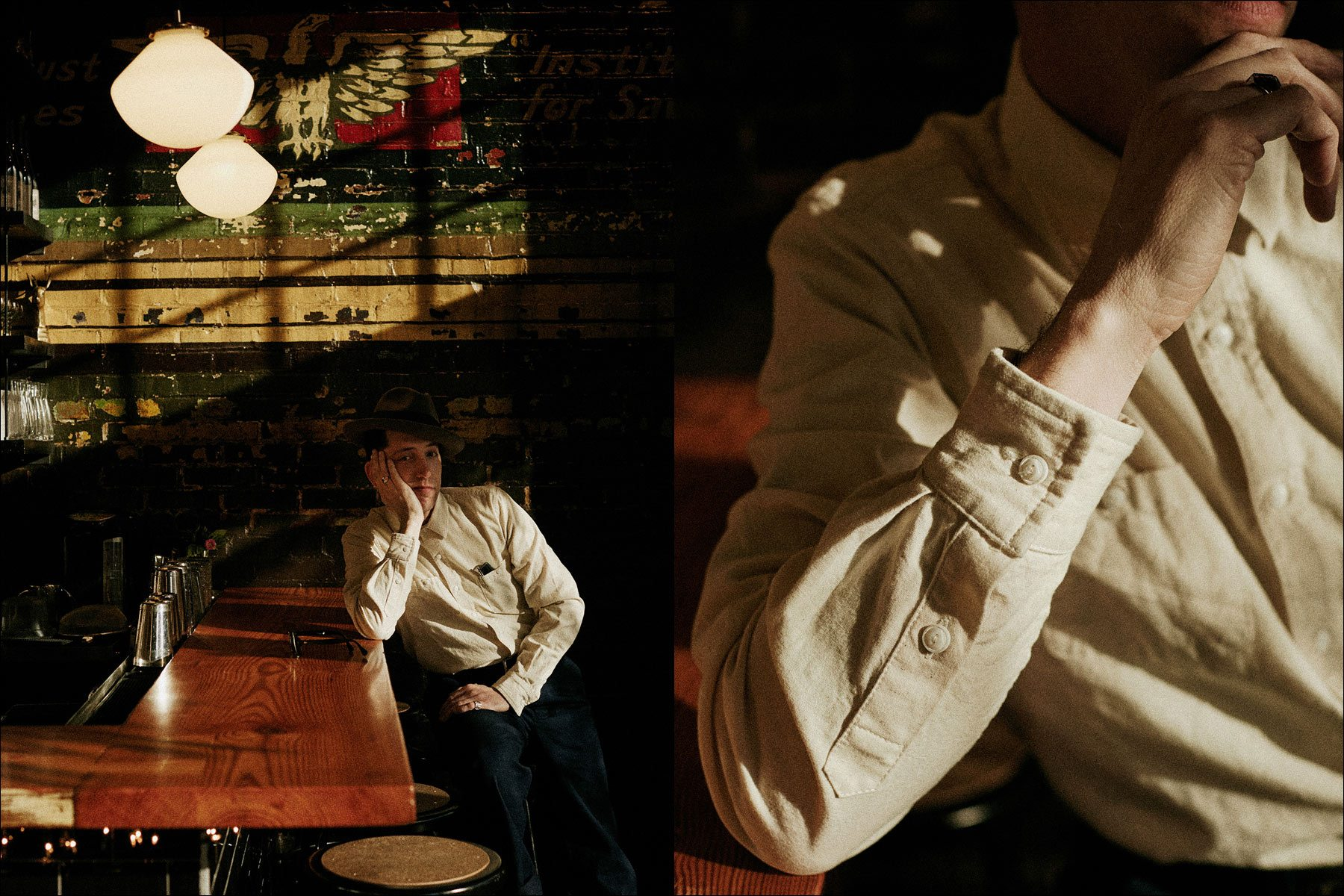 Pokey LaFarge for Knickerboker Mfg. Co. Photographed by Noah Sahady. Ponyboy magazine NY.