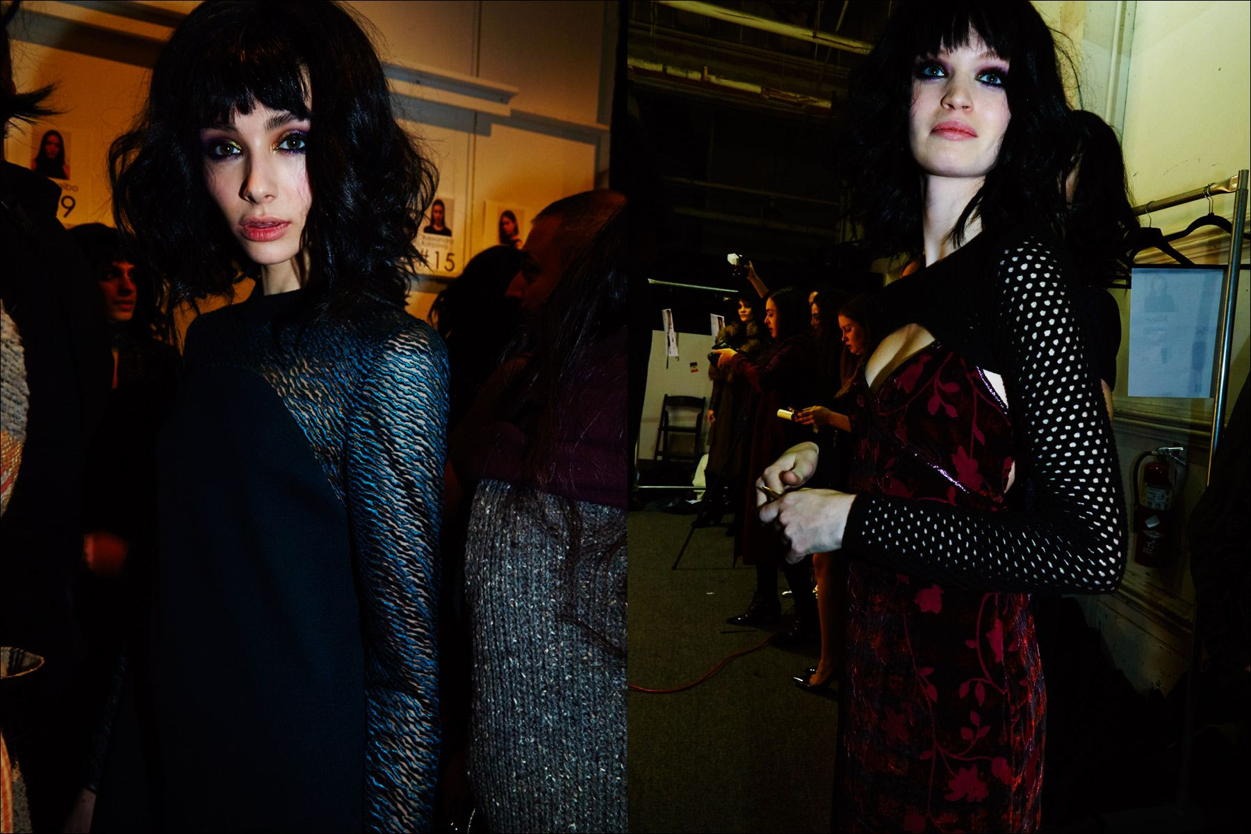 Models Iliana Ruiz & Luisa Bianchin backstage at the Georgine F/W17 womenswear show. Photography by Alexander Thompson for Ponyboy magazine.
