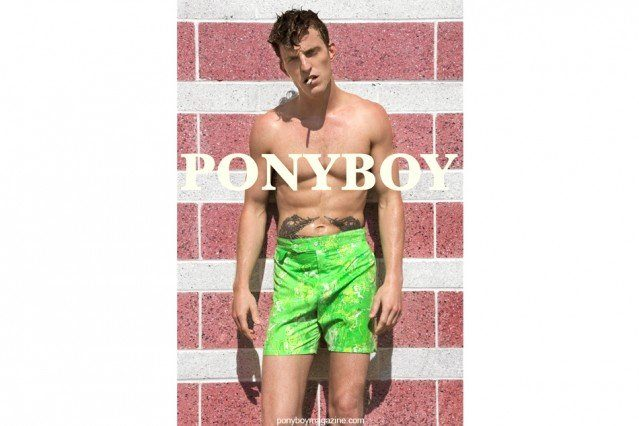 """Male Model Brendon Beck from the Fusion Agency in NYC, starring in the men's editorial """"Beach Boy"""" for Ponyboy Magazine, photographed by Alexander Thompson."""