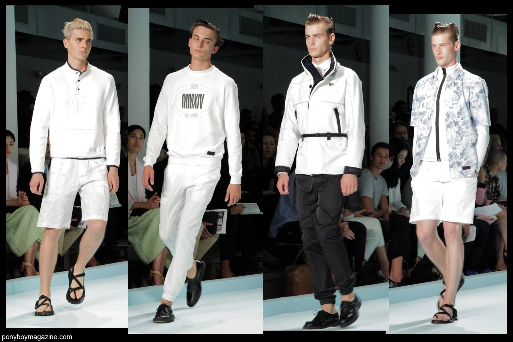 Models walk the runway for Patrik Ervell SS2014, photographed by Alexander Thompson for Ponyboy Magazine.