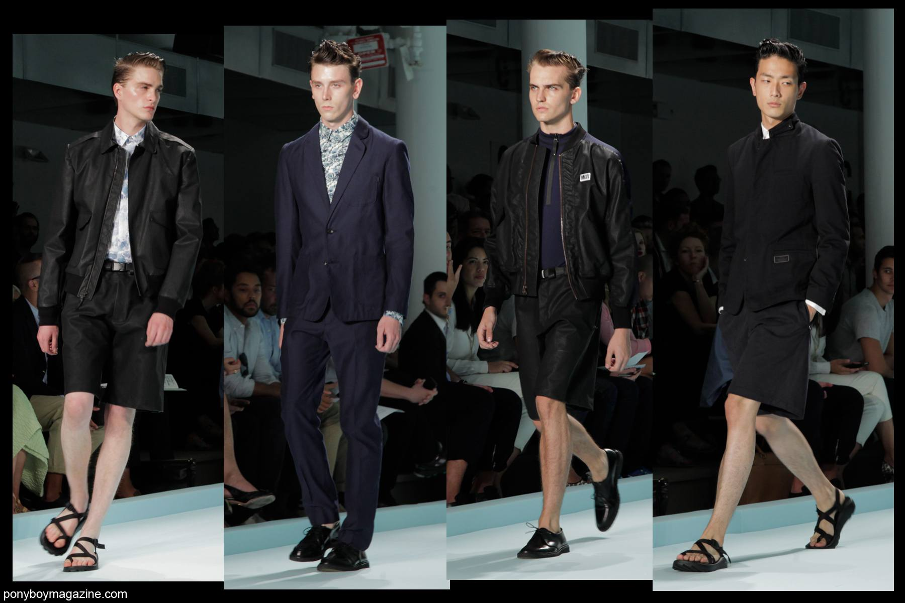 Models walk the runway at the Patrik Ervell SS2014 show, photographed by Alexander Thompson for Ponyboy Magazine.