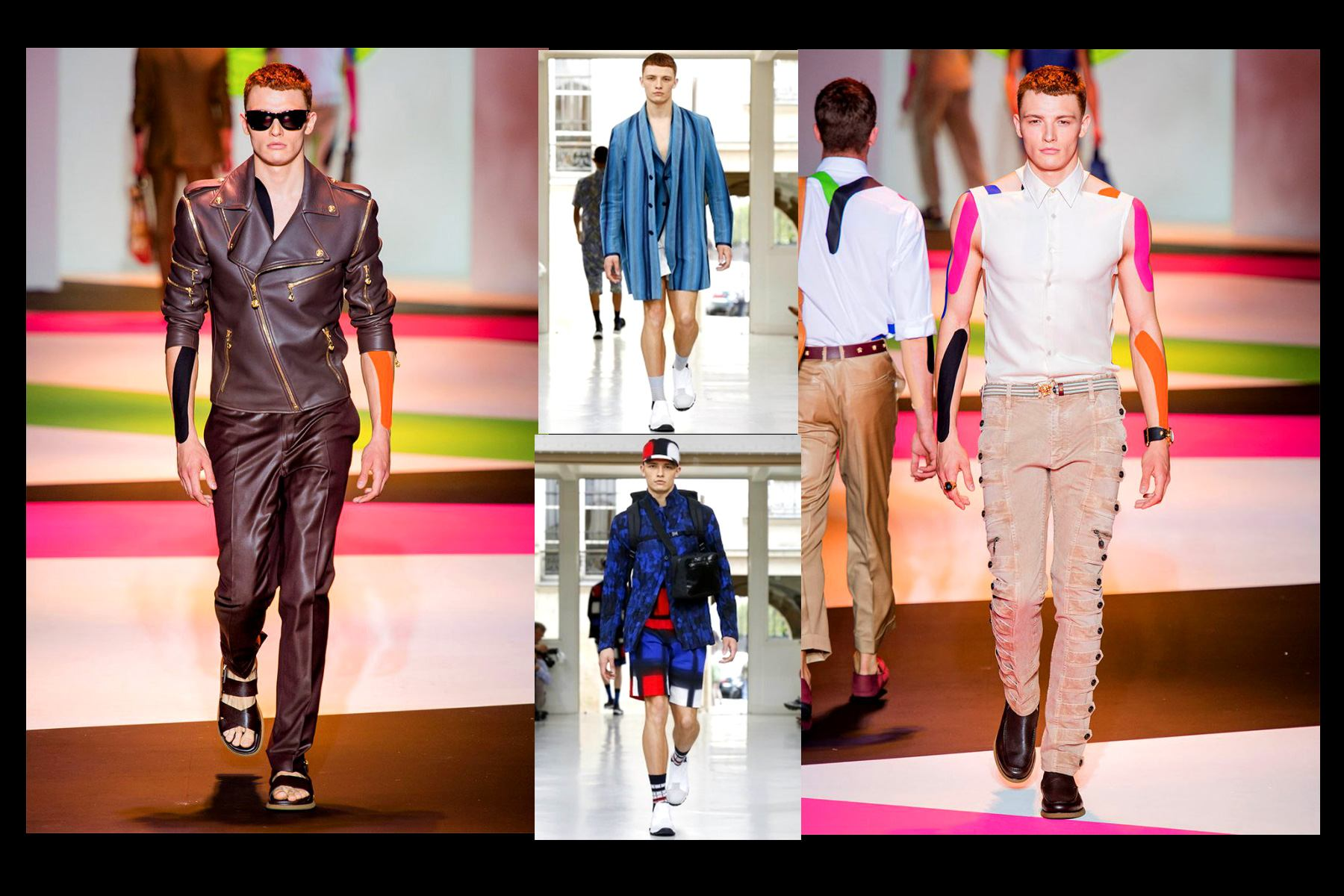 Tyler Rix walks for House of Versace and Issey Miyake, featured in Ponyboy Magazine.