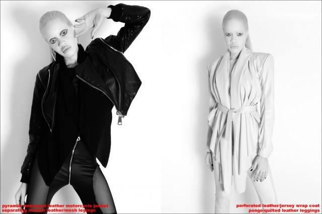 Beautiful albino model Diandra Forrest photographed by Alexander Thompson, wearing Ashton Michael AW 2013 for Ponyboy magazine.