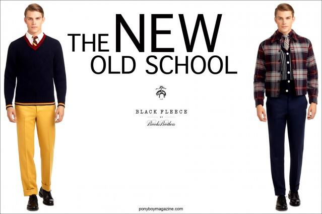 The NEW Old School, Black Fleece by Thom Browne, AW 2013. Brooks Brothers. Ponyboy Magazine, online vintage inspired fashion for both women and men.