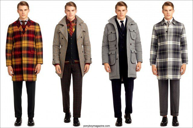 Outerwear by Thom Browne for Black Fleece AW 2013. Ponyboy Magazine, vintage inspired online fashion.