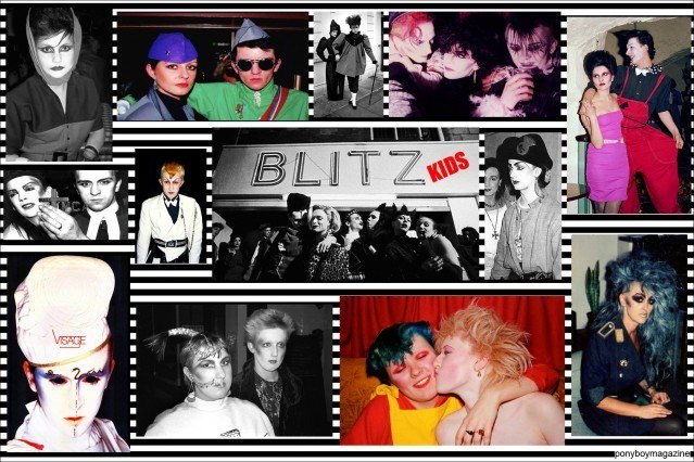 Photos of The Blitz Kids in 1980's London for Ponyboy Magazine, the online vintage fashion magazine.