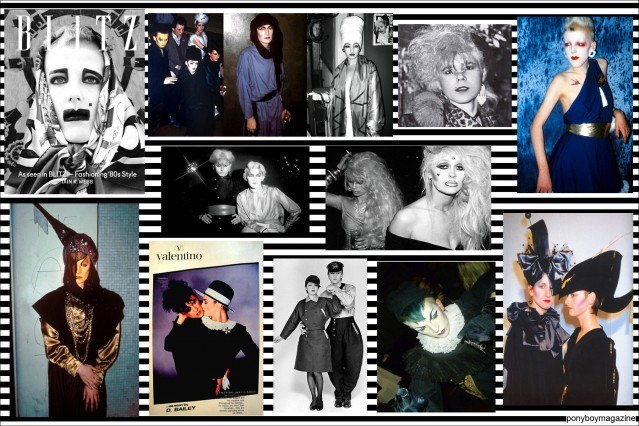 A photo collage of 1980's Club Kids for Ponyboy Magazine. The Blitz Kids had innovative clothing and makeup looks.