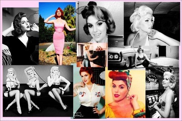 Photo collage of lovely model Doris Mayday for Ponyboy Magazine.